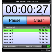 interval timer online stopwatch