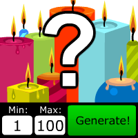Number Picker Candles