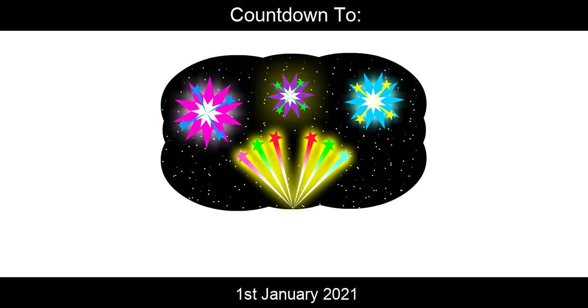 Countdown To New Years Day | Days Until New Years Day